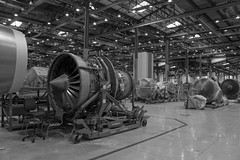 Aircraft Engines - B&W (CAUT) Tags: madrid bw espaa plane spain nikon aircraft aviation engine bn maintenance motor flugzeug turbine avion iberia turbina aviacion 2016 d610 caut mantenimiento iberiamaintenance nikond610