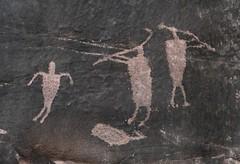 Petroglyphs at Shay Canyon (Ron Wolf) Tags: archaeology utah fremont nativeamerican petroglyph kokopelli anthropology rockart blm anthropomorph anthromorph shaycanyon