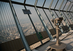open observation deck in milad tower, Central district, Tehran, Iran (Eric Lafforgue) Tags: city urban panorama tower horizontal skyscraper observation outdoors persian asia cityscape iran top middleeast optical persia nobody telescope metropolis block geography tehran overlooking geographic milad teheran miladtower urbanization centraldistrict borjemilad urbanisation    iro  tehrantower colourpicture  handheldtelescope irandsc01622