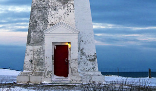 Lighthouse red door