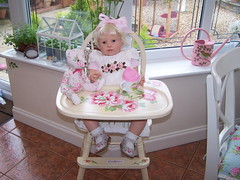 100_9298 (sheila32711) Tags: doll kit highchair louisa reborndoll janniedelange 26inlong