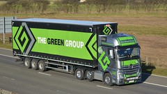 YJ13 LVX (panmanstan) Tags: truck wagon mercedes motorway yorkshire transport lorry vehicle mp4 m62 hgv actros curtainsider