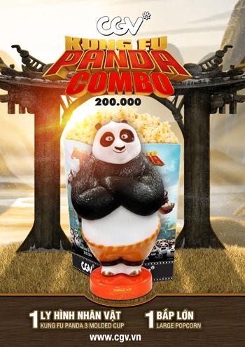 Combo Kungfu Panda 3 – Phiên Bản Ly Uống Nước Gấu Po