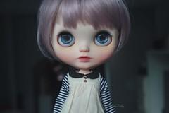 Luca (umami_baby) Tags: miniature luca mod doll ooak bob dressup lilac blythe freckles collectible etsy artdoll fashiondoll customizeddoll pinkhair dollhouse purplehair customblythe faceup blytheteeth umamibaby blytheopenmouth