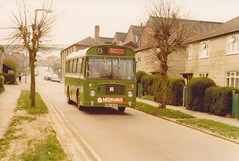 Southern Vectis 836 ; HDL412N . Newport 13/4/80 (busmothy) Tags: nbc newport ecw 836 southernvectis bristollh medinabus hdl412n