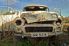Rust in peace (Matthias-Hillen) Tags: blue cars abandoned car rust peace rusty matthias rest morris blau wreck minor rost rostig cementery hillen schrott wrack autofriedhof outtopasture schrottplatz autowrack classik dornröschenschlaf matthiashillen