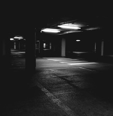 Underground Car Park (only lines) Tags: dark underground empty creepy mysterious carpark