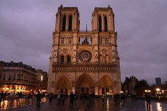 Notre Dame at sunset (raewynp) Tags: sunset paris france rain architecture facade cathedral gothic notredame iledelacite frenchgothic