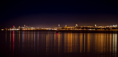 Calm And Cold Night On The Mersey (Rob Pitt) Tags: light sky abstract reflection water night liverpool river photography long exposure cheshire mersey wirral merseyside