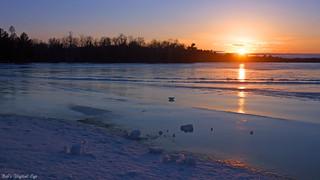 Last Light on Frozen Lake
