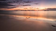 koh mook sunset (likeslimes) Tags: ocean sunset sea color art beach thailand boats island asia pentax ngc koh mook 1224f4 k3ii likeslimes