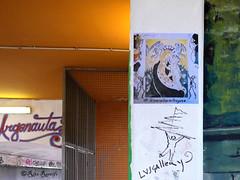 "Roma. Ponte Argonauta. Street art. Freely inspired by Pisanello, ""Madonna della quaglia"" for #iononmilasciofregare. By Lus57 (R come Rit@) Tags: bridge urban italy streetart rome roma muro art wall museum project photography graffiti italia arte streetphotography wallart urbanart verona stolen walls museo graff graffitiart muri castelvecchio garbatella arteurbana argonauta pisanello castelvecchiomuseum graffitirome italystreetart streetartitaly romegraffiti graffitiroma streetartrome streetartphotography romastreetart streetartroma romestreetart urbanartroma museocivicodicastelvecchio madonnadellaquaglia lus57 ritarestifo pontelargonauta romeurbanart argonautabridge iononmilasciofregare ponteargonauta stolen17worksofgreatvalue stolenworks iwontgetscrewedover freelyinspired"