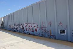 Bege, Erb (NJphotograffer) Tags: railroad art train bench graffiti track rail graff hopper freight erb bege trackside benching