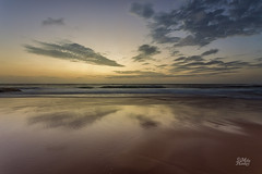 Quiet Reflection (Mike Hankey.) Tags: seascape colour published lowtide turimetta