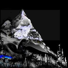 La montagne a.