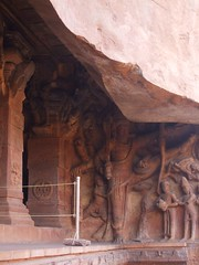 Gatekeeper, Vishnu Temple (Voyou Desoeuvre) Tags: india places badami