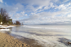 ahhhh... Spring in Constance Bay (Barbara A. White) Tags: morning snow ontario canada ice beach clouds spring sand shoreline ottawariver woodlawn constancebay