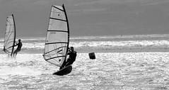Windsurfers on a Silvered Sea (Barry MacDonald 52) Tags: sea west kirby wirral windsurfers silvered