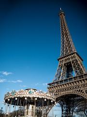 La Tour Eiffel - Eiffel Tower (y.caradec) Tags: trees mars paris france tree tower clouds lumix march europe ledefrance tour eiffeltower eiffel bleu arbres toureiffel 16 nuages eiffelturm arbre manege 2016 gx7 dmcgx7 march2016 mars2016