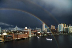Rainbow Over Boston (Rusty Russ) Tags: blue red sky people white color green eye art weather boston composite skyline museum photoshop magazine t landscape creativity photo yahoo blog google rainbow paint flickr pin all image artistic air creative young photographers commons manipulation science brush double blogs national montage saturation getty colourful newsroom paysage hue flic winners android geographic bing wiki facebook wikimedia openuniversity stumbleupon daum worldskills ilri painttexture reddit twitter photoscape tumblr flickriver pixelpeeper fiveprime flickrhivemind pinterest alpilo oceannetworks comflight stockpainterly