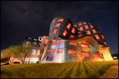 Lou Ruvo Center for Brain Health | Cleveland Clinic (Roving Vagabond) Tags: county longexposure las vegas moon building metal architecture modern night frank for downtown outdoor cleveland nevada gehry center brain nv explore health clark lou clinic ghery ruvo