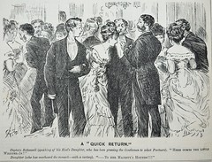 A Quick Return! - Punch 1873 (AndyBrii) Tags: woodcuts satire punch wit engravings 1873