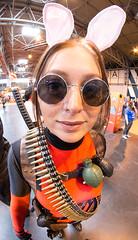 MCM Comic Con NEC 4 March 2016 (stevebell) Tags: costumes portrait woman girl birmingham superhero nec brightcolour fisheyeportrait samyang8mmfisheye nikond7100 mcmcomiccon ©stevebell mcmcomiccon2016