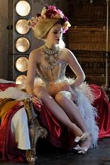 Radiant Beauty (The Green Album) Tags: fashion hair bed shoot underwear makeup jewellery experience basque fse headdress missaniela gracegray talulahblue tatizarubova sannatakalampi cleabroad