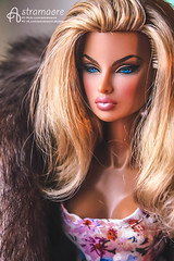 Eugenia (astramaore) Tags: blue portrait public beauty fashion fur toy glamour eyes doll tan going indoor lips full blonde 16 royalty tanned eugenia dollphotography integritytoys astramaore