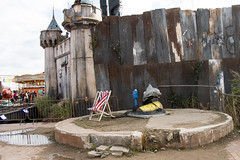 deckchairs at dismaland (Mark Rigler UK) Tags: castle water ride banksy dismaland