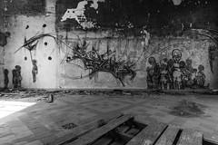 Les p'tits gris (ur.bes) Tags: street urban bw white streetart black france art abandoned wall work canon painting eos graffiti blackwhite artwork mural paint noir decay fat tag murals style tags dessin nb spray peinture cap 600 walls cans lettering draw graff aerosol exploration derelict blanc noirblanc urbain fresque workofart lettrage 600d artofwork