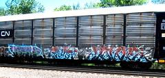 krime - deta - bones (timetomakethepasta) Tags: cn train graffiti rail rr canadian national rats bones freight mvp autorack deta krime