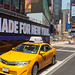 Times Square und Taxi in New York