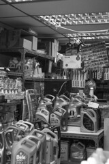 The Oil Supplier (Job Homeless) Tags: blackandwhite hongkong streetphotography jordan f2 58mm helios44m monochorme streetsnap canon6d