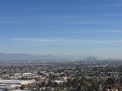 Looking towards downtown LA from Baldwin Hills Scenic Overlook (vxla) Tags: california travel vacation march losangeles spring westcoast iphone 2016 iphone5 vxla 2010s