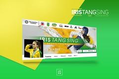 Facebook - Iris Tang Sing (Joo Vitor Ferraz) Tags: iris brazil photoshop design artwork graphic taekwondo adobe sing olympics tang facebook