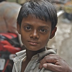 one face in a million (Pejasar) Tags: poverty boy india delhi son beloved handonshoulder