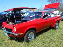1972 Chevy Vega GT (splattergraphics) Tags: chevy 1972 vega carshow customcar imsa vegagt jarrettsvillemd v8vega romancingthechrome