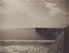 San Simeon State Beach Pier (H Polley) Tags: california seascape polaroid coast chocolate roadtrip expiredfilm packfilm instantfilm peelapart type100 polaroidweek sansimeonstatebeach 360landcamera tipshow snapitseeit lastbiteofchocolate savepackfilm
