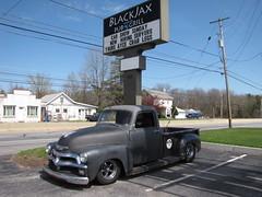 Blackjax Bar 4/10/2016 Chevy 3100 Truck (Speeder1) Tags: show street cruise two hot classic ford chevrolet car bar truck rat pennsylvania muscle pa chevy lane tavern rod 55 goons aces willys gasket blacktop 3100 eights birdsboro blackjax
