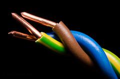 Let's Twist feat. AC/DC (Explore 12-Apr-2016 Pos 20) (SLX_Image) Tags: macro blackbackground lens nikon twist cable macromondays d7000 tokinaatxpromacro100mmf28d