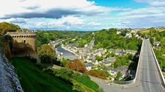 The fortress, the river and the Viaduct de Dinan... (MickyFlick) Tags: dinan brittany france castle chateau fortress river viaduct viaductdedinan bridge flyover mickyflick