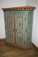 1815 German wardrobe (quinet) Tags: germany antique wardrobe garderobe 2012 ancien 1815 antik castleroad burgenstrase