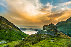 Martindale Lake District (davenewby123) Tags: trees sunset sky mountain plant mountains field grass sunrise landscape legs brothers outdoor hill lakedistrict bridges rivers streams mountainside grassland keswick windermere foothill bottomley davenewby amblesid lakedisdsk