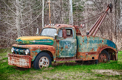 Ford F-6 wrecker (hz536n/George Thomas) Tags: copyright ford canon rust michigan may rusty canon5d rusting wrecker 2016 f6 ioscocounty cs5 ef100mmf28lmacroisusm