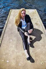 Kim Lobbezoo 7 (M van Oosterhout) Tags: portrait people woman sun lake holland cute netherlands girl beautiful face fashion female clouds model pretty photoshoot modeling stunning editorial