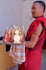The Lama from Thiksay Monastery (pallab seth) Tags: city travel panorama india mountain tourism statue landscape religious asia candles tour decorative traditional culture monk monastery valley idol lama layers lamps custom leh himalayas deity thikse highaltitude gompa butterlamps buddhistmonk tibetanbuddhism jammuandkashmir spiritualleader indusvalley thiksay thikseygompa