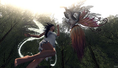 What are you? (AnnikurBananakur) Tags: forest pixie fairy fantasy secondlife tableau vivant argrace
