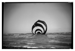 beach_conway_03 (D_M_J) Tags: camera uk sea england blackandwhite bw white seascape black west 120 film beach monochrome landscape mono coast box conway north delta lancashire promenade roll epson 6x9 medium format 100 rodinal ilford cleveleys fylde r09 v850