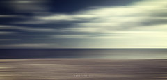 Homage (Bruus UK) Tags: sea sky abstract motion blur beach clouds dark movement marine artist minimal devon painter gloom panning linear budleigh salterton culwick